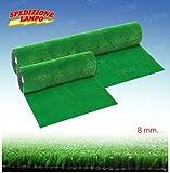 Prato sintetico erba finta artificiale calpestabile 8 mm tappeto verde moquette vari misure (2 METRI) Minimo ordine 3 Metri di lunghezza per motivi di spedizione