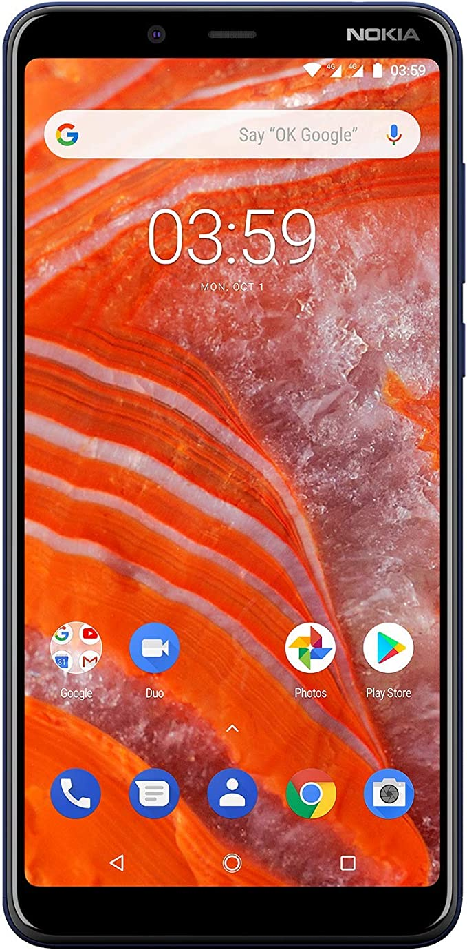 Nokia 3.1 Plus, Smartphone, Versión 2018, MicroUSB, Android, Azul ...