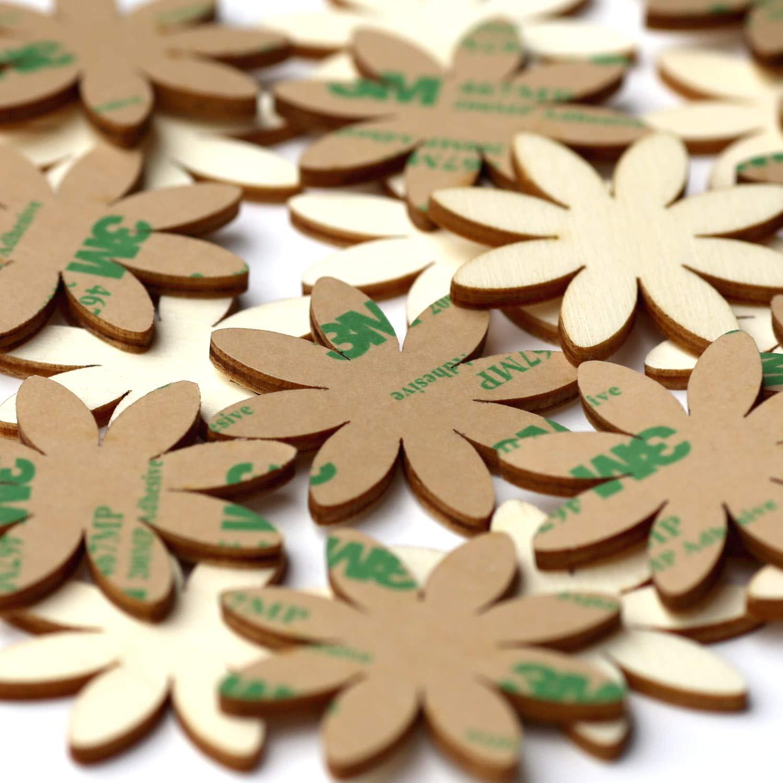 Holz Blumen Margeriten Gr/ö/ße:Blumen 2cm Pack mit:100 St/ück 1-10cm Streudeko Basteln Deko Tischdeko