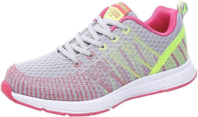 Tefamore Zapatillas de Deportivas para Mujer - Zapatos Sneakers Zapatillas Mujer Running Casual Yoga Calzado Deportivo de Exterior de Mujer 35-40: Amazon.es: Zapatos y complementos