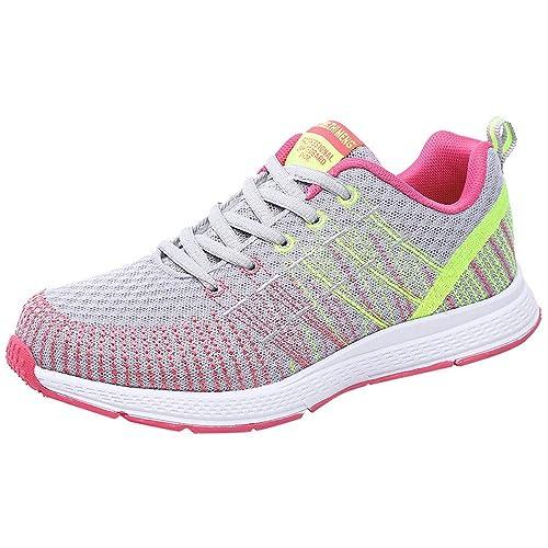 Tefamore Zapatillas de Deportivas para Mujer - Zapatos Sneakers Zapatillas Mujer Running Casual Yoga Calzado Deportivo de Exterior de Mujer 35-40: ...