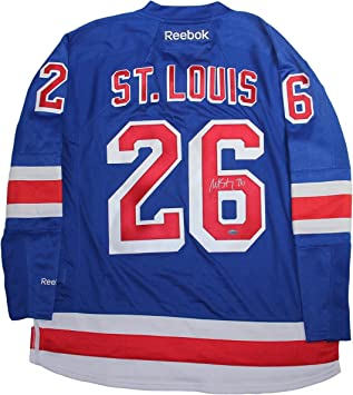 Image Unavailable. Image not available for. Color  NHL New York Rangers  Martin St. Louis Signed Blue Premier Jersey ... 38634eda2