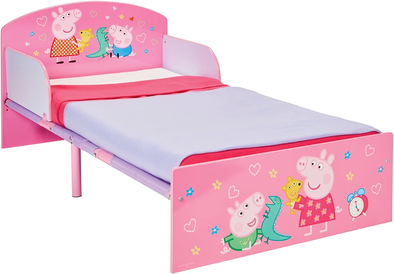 Peppa Pig Hello Home Cama Infantil, Madera, Rosa, 42.50x77.00x143.00 cm