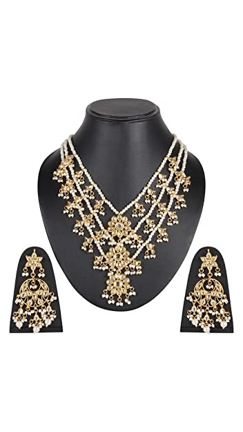 Buy Beunew White Colour Three Lada Hand Crafted Kundan With Pearl