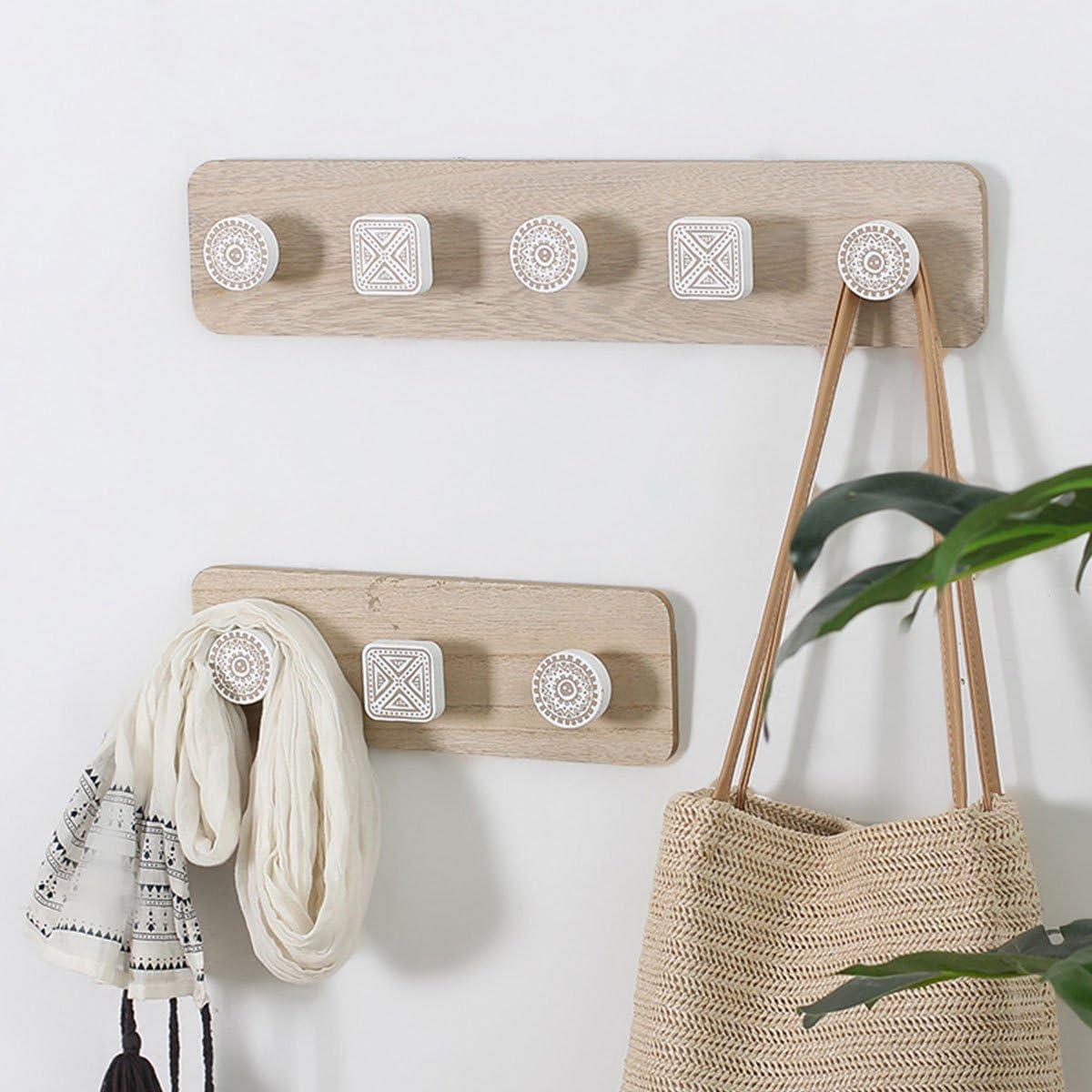 Nero Mumusuki Appendiabiti Minimalista Nordico Parete Acciaio Inossidabile Gancio Adesivo Lega di Zinco per la Parete Porta Bagno Cucina