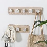 Ganchos de madera modernos minimalistas nórdicos Creativo gancho