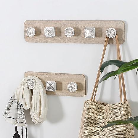shanzhizui Appendiabiti in legno moderno minimalista nordico Attaccapanni  creativo da parete Decorazioni murali d\'ingresso (S+L)