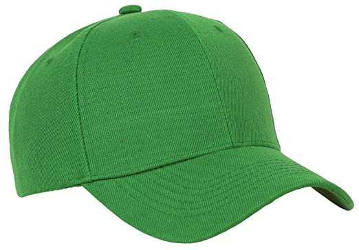 eab4b1317a0 Image Unavailable. Image not available for. Color  Bright Sun Green Plain  Baseball Cap ...