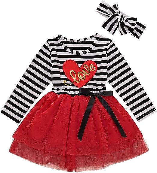 Summer Baby Girl Bowknot Playwear Dress Short Sleeve Stripe Cotton Kid Dresses T