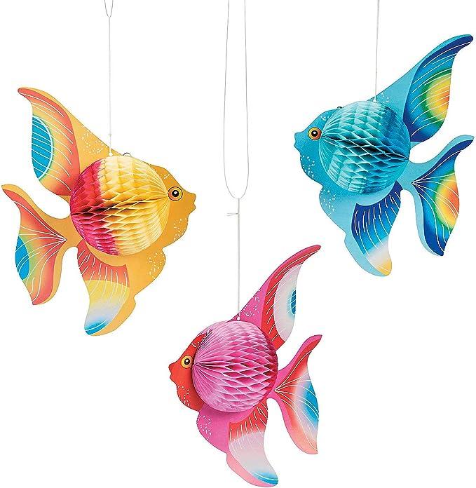 Seaside Theme Hanging Fish Decoration Hanging Length 31 cm
