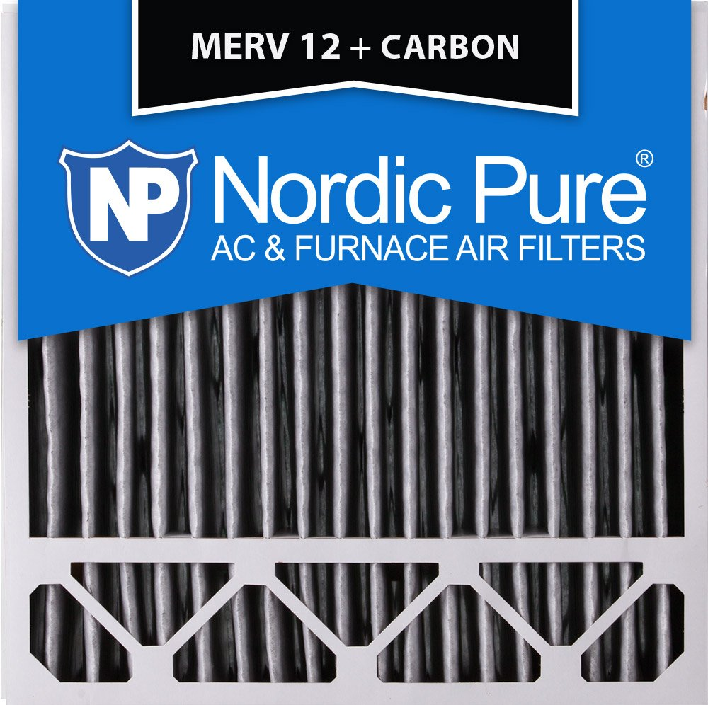 4-3//8 Actual Depth Box of 1 Honeywell Replacement Pleated MERV 12 Plus Carbon AC Furnace Air Filter Nordic Pure 20x20x5