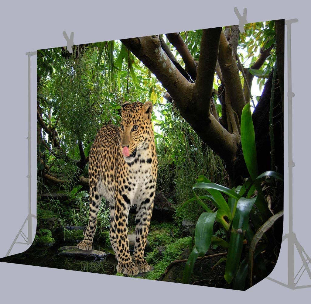 10x8ft Background Forest Cheetah Photography Backdrop Studio Photo Props LYFU472