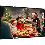 AMWOKE Projector Screen,100 inch Portable Projection Screen with 16:9 HD Movie Screen and Foldable for Home Cinema, Outdoor&Indoor Theater