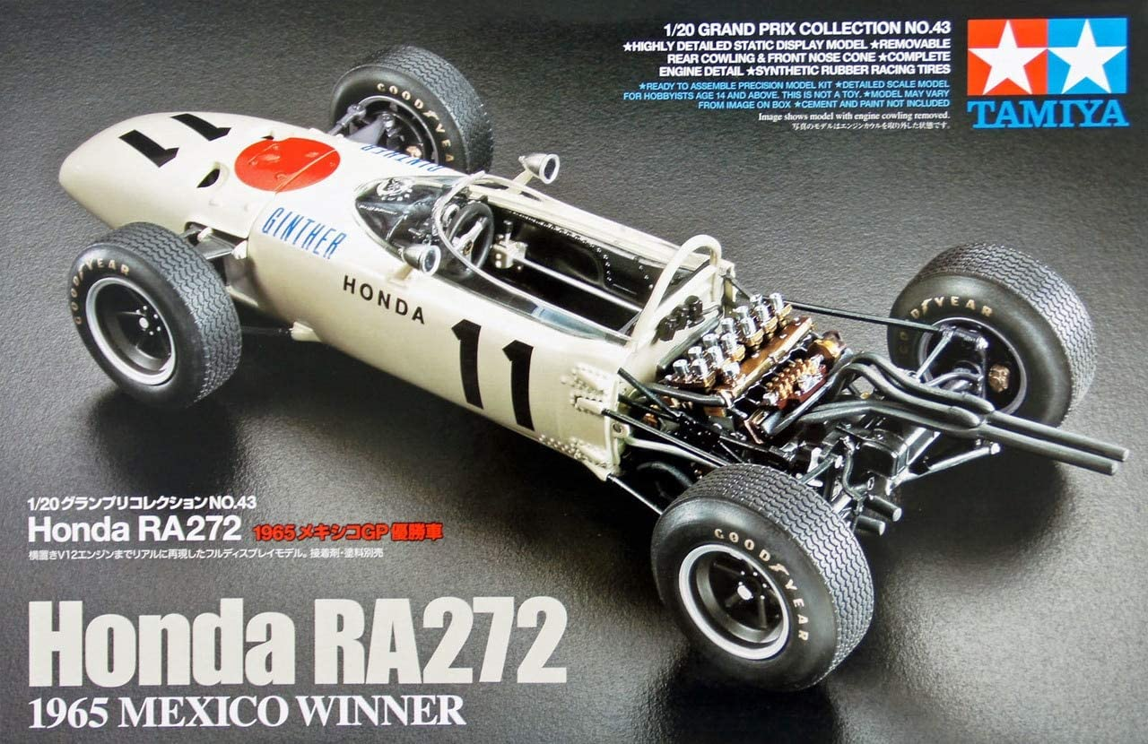 20e Grand Prix Collection No.43 Honda RA272 1965 Mexique GP voiture 20043 gagnante