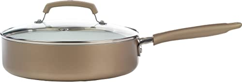Wearever C94433 Pure Living Nonstick Ceramic Coating Scratch-Resistant PTFE PFOA Cookware, Gold