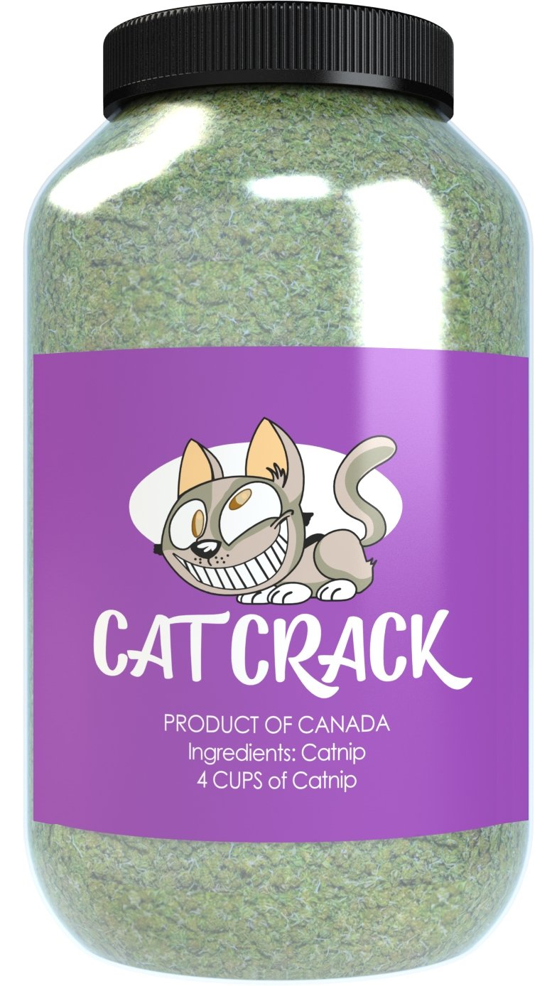 Catnip by Cat Crack, Premium Blend Safe for Cats, Infused with Maximum Potency your Kitty is Guaranteed to Go Crazy for! (4 Cups)