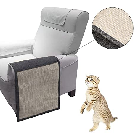 laamei Protectores de Arañazos para Gatos Alfombrilla Antideslizante para Raspar Mascotas para Proteger Sofá o Muebles