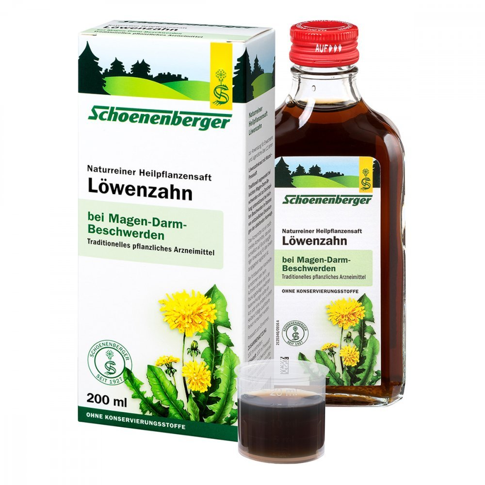 Löwenzahn Saft Schoenenberger 200 ml SALUS Pharma GmbH 02002427