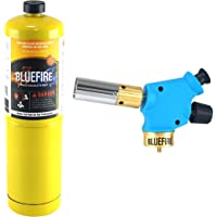 BLUEFIRE Handy Cyclone Propane Torch Head,Trigger Start Push Button Piezo Ignition,Fuel by Propane MAPP MAP PRO Gas,CSA Certified.Welding,Soldering,Brazing,Cooking,Glass Beads DIY (Kit with MAPP Gas)