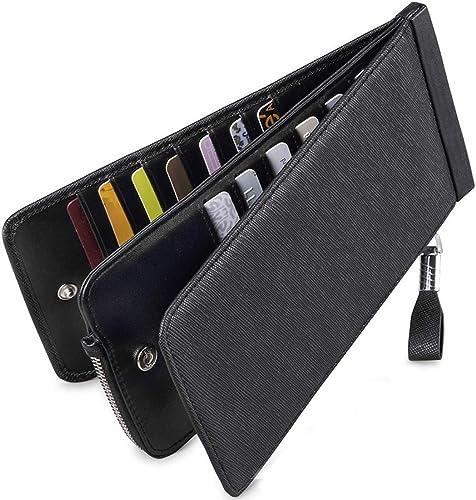 Amazon.com: Huztencor cartera de cuero con bolsillo para ...