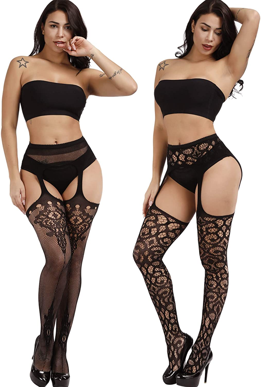 8 Pairs Women Fishnet Stockings Tights Pantyhose Thigh High Stockings Waist Fishnets at  Women's Clothing store