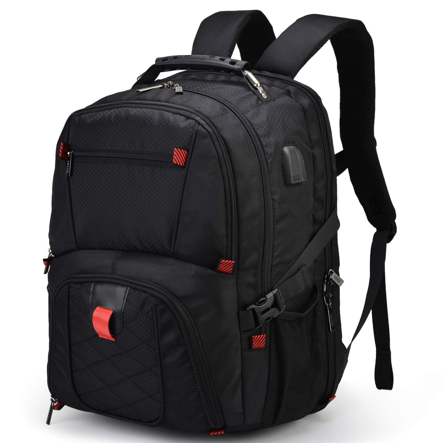 Extra Large Backpack,TSA Travel Back pack Bag With USB Charging For 17 In Laptop