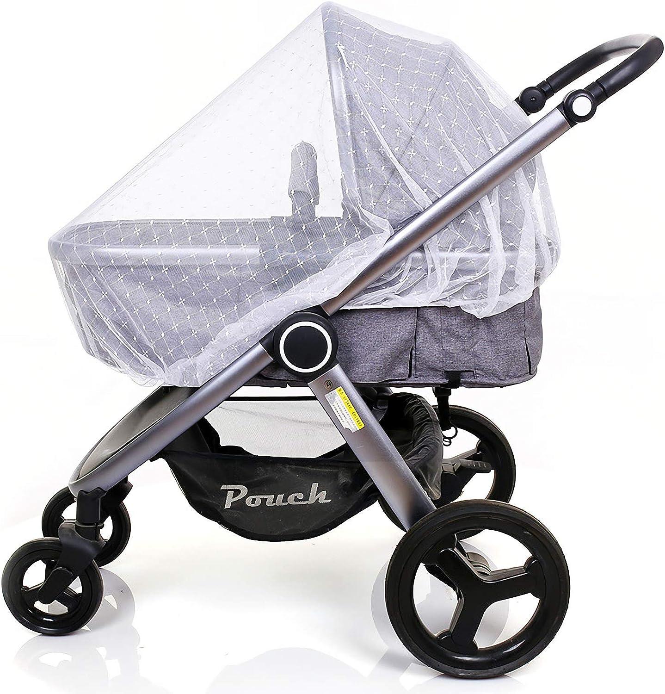 Bebé Mosquitera para carritos, Carriers, asientos de coche, cuna. Se adapta a la mayoría packnplays, cuna, bassinets & playpens, Portátil y duradero bebé insectos malla (Jacquard)