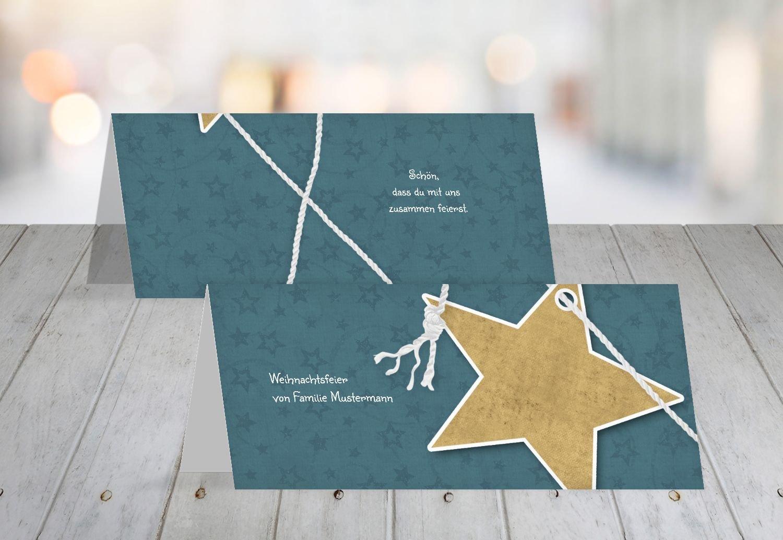 Kartenparadies Tischkarte Weihnachtstisch Tischkarte Tischkarte Tischkarte Sternenschnur, hochwertige Platzkarte für die Weihnachtsfeier (Format  100x44 mm) Farbe  MattGrün B01MR5F7U8 | Geeignet für Farbe  | Um Sowohl Die Qualität Der Zähigkeit Und Härte  | Auf Ver 3e7841