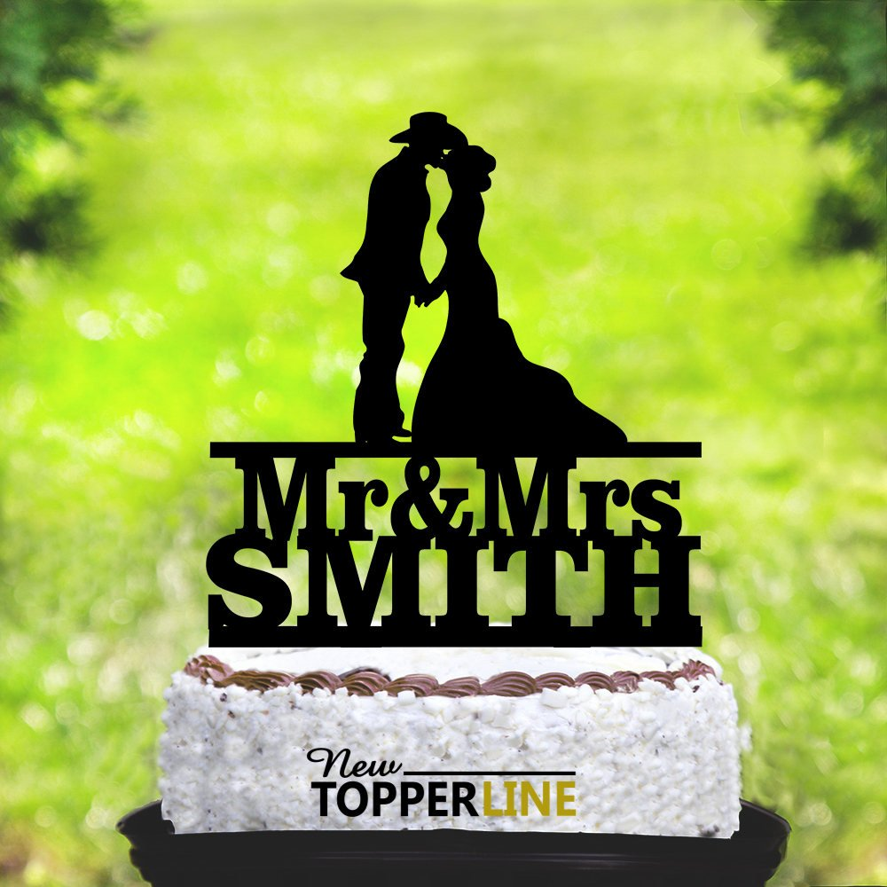 Susie85Electra Cowboy Wedding Cake Toppers Country,Wedding Cake Toppers Bride and Groom,Funny Wedding Cake Toppers,Acrylic Cake Topper,Wedding Party Decorations Cake Topper