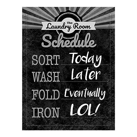 Laundry Room cuadro Metal Sign para la colada decoración De ...
