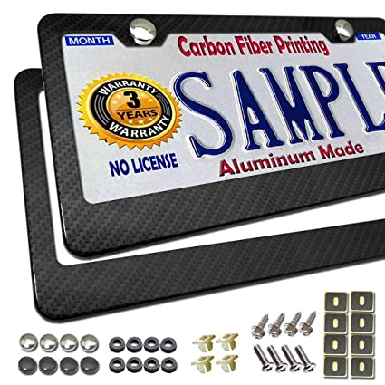 Honda Accord Logo License Plate Frame Black Powder Stainless Steel Wide-Body