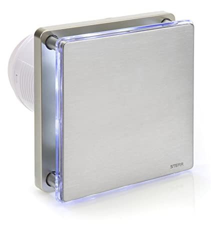 Remarkable Sterr Silver Bathroom Extractor Fan With Led Backlight And A Timer 100 Mm 4 Bfs100Lt S Beutiful Home Inspiration Xortanetmahrainfo