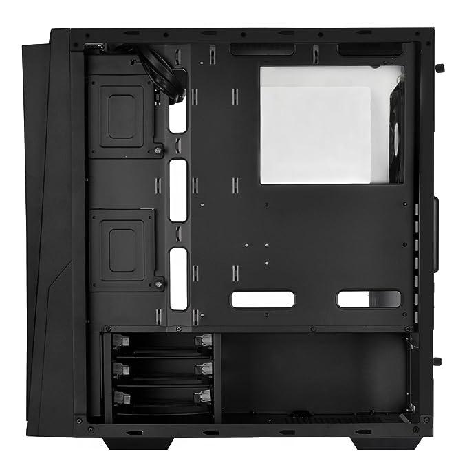 Silverstone Technology rl06br-g negro y rojo color con Full vidrio templado Panel lateral casos sst-rl06br-g: Amazon.es: Informática