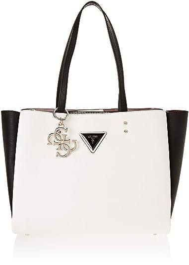 Guess Damen Jade Shopper, Mehrfarbig (White MultiWml