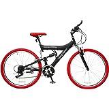 DEEPER(ディーパー) マウンテンバイク DE-08 26インチ シマノ18段変速 自転車 フルサスペンション バーエンド装備