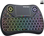 (Newest Version) PONYBRO Backlit Mini Wireless Keyboard with Touchpad Mouse Combo
