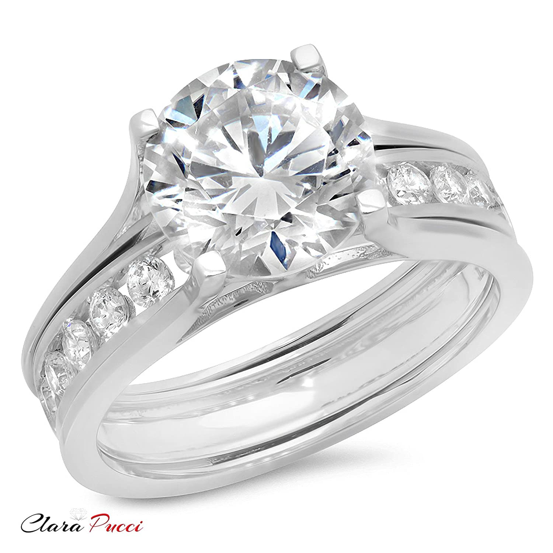 Amazon 3 09 Ct Round Cut Halo Engagement Wedding Bridal