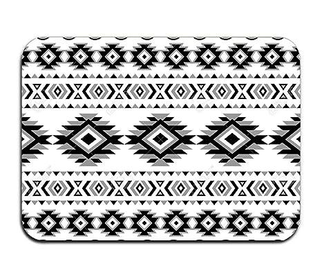 Amazoncom Black White Aztec Pattern Doormat Rubber Home Decor