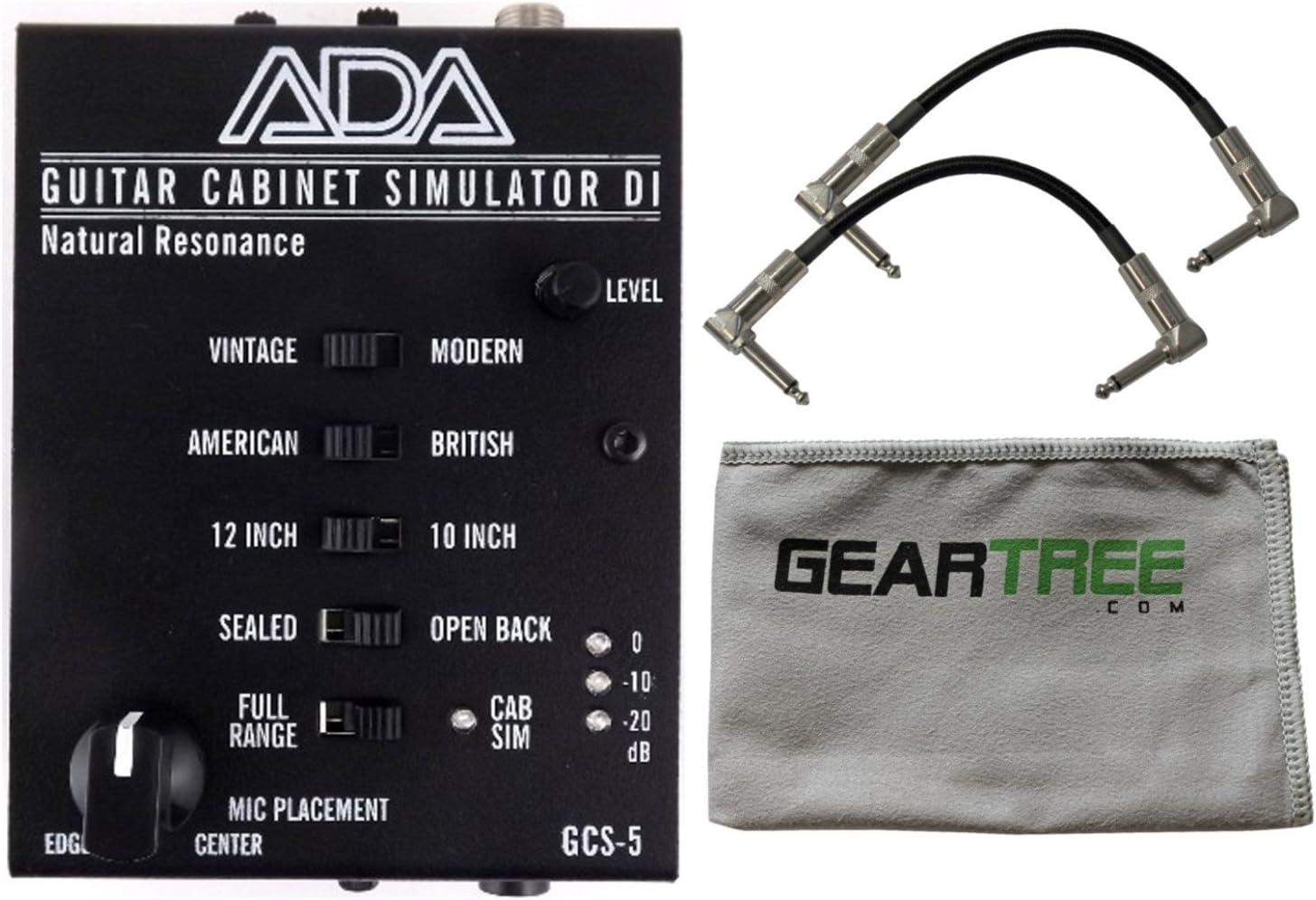 Ada gcs-5 Natural resonancia guitarra armario simulación y di un/Da cabina SIM w/gamuza de limpieza y 2 cables