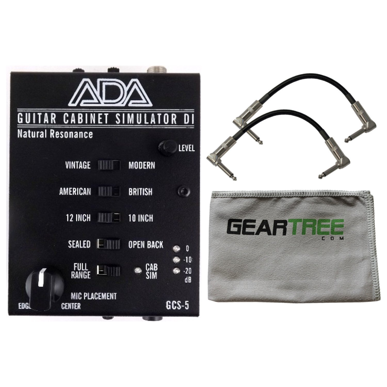 ADA GCS-5 Natural Resonance Guitar Cabinet Simulation and DI A/DA Cab Sim w/ Cle