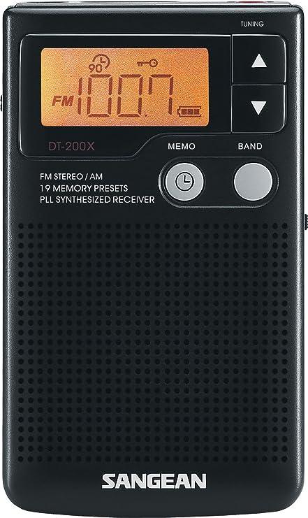 Black DT-180 Sangean Pocket Radio Tuner