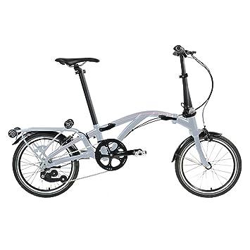 Dahon Faltrad Curl i4 4-Gang 16 Zoll Klapp Fahrrad Silber Anthrazit Uni Cityrad Bike