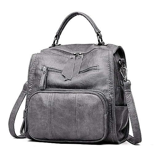 Miweel Bolso de cuero de las mujeres Bolso de la mochila de la moda Bolso de estudiante ocasional Estilo de las señoras Mochila de viaje: Amazon.es: Zapatos ...