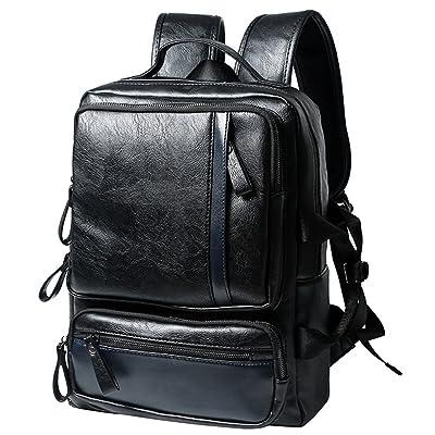 Berchirly Homme Femme pour vintage Grande Sac à dos pour ordinateur portable école voyage sac à dos Noir