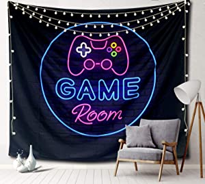 Sosolong Game Room Tapestry,GameRoom Tapestry for Bedroom,Tapestry for Wall Hanging Decor Funny Tapestry (Game Room, 59 in*51 in)