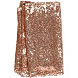 GOOTUUG 12x 108 Pulgadas Mesa Runner Decorativos Mesa Corredores Mantel para Cumpleaños Bodas Baby Showers (Oro Rosa)