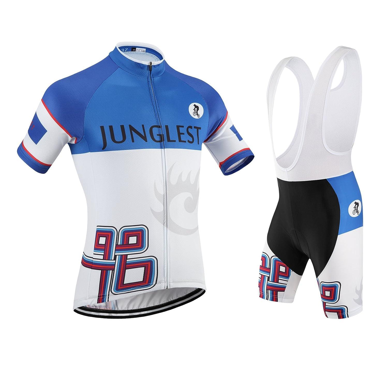 Cycling Jersey Set Wen半袖( S ~ 5 X L、オプション:よだれかけ、3dパッド) n137 B01BSZAA2S (2.8cm 3D pad)(Chest 38-40inchs)|種類: セット(ホワイト前掛け) 種類: セット(ホワイト前掛け) (2.8cm 3D pad)(Chest 38-40inchs)