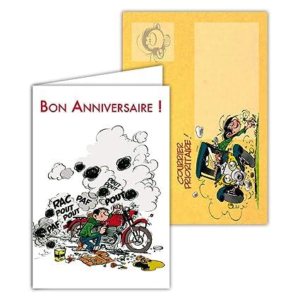 Gaston Lagaffe glct-6063 tarjeta de cumpleaños para todos ...