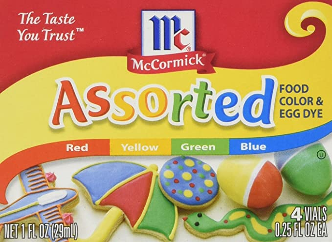 2 PACK - MCCORMICK FOOD AND EGG COLORING DYE 4 Colors