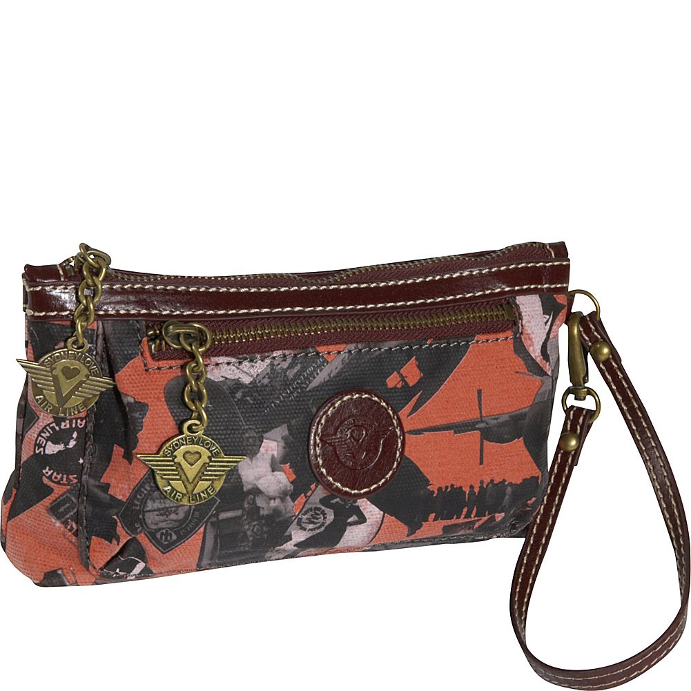 Sydney Love Going Places Cosmetic Wristlet,Orange,One Size